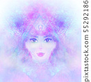 Woman with third eye, psychic supernatural senses 55292186