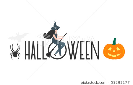 Creepy elements for Halloween 2020 Party card 55293177