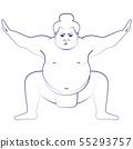 Japanese Sumo Wrestler 55293757