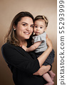 Latin mother with baby girl 55293999