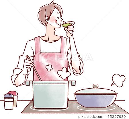 요리를하는 남자 55297020