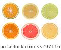 Grapefruit,Orange fruit ,lemon isolated on white 55297116