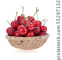 Cherry berry isolated on white background. 55297132