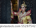 portrait women in myanmar traditional costumes 55297542