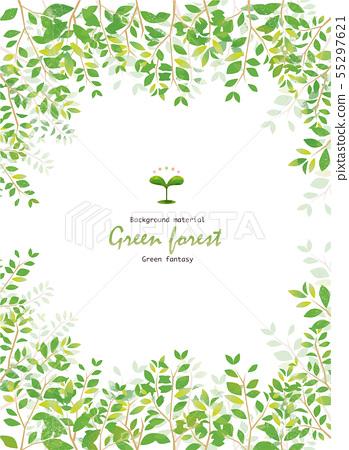新鲜的绿色框架 55297621