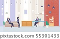 Businesspeople Working in Office Vector Concept 55301433