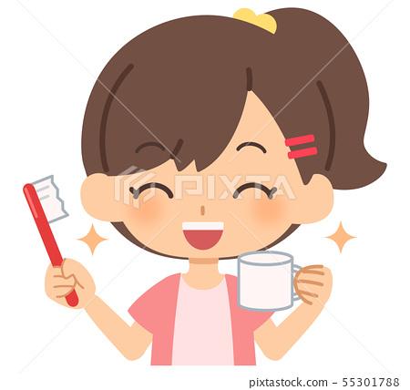 女孩牙刷短袖 55301788