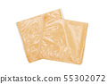 Slice cheese in package - Clipping path included. 55302072