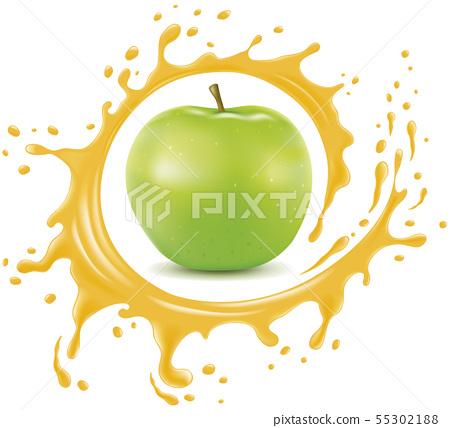 splash, apple, fruit 55302188