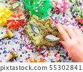 Colorful cranival Mardi gras background 55302841