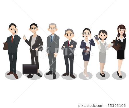 Company employee team work 55303106