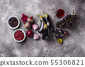 Collection of various purple food 55306821