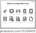 Basic UI icons Line pack 55309405
