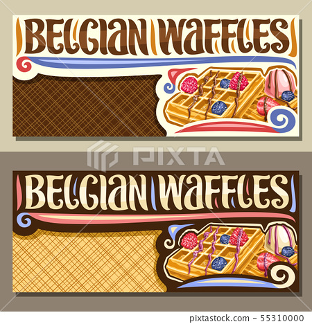 Vector banners for Belgian Waffles 55310000