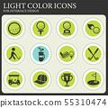 Golf vector icons set 55310474