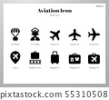 Aviation icons Solid pack 55310508