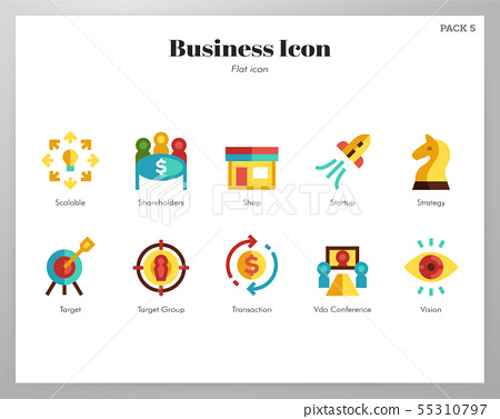 Business icons flat pack 55310797