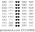 Black silhouettes of different  eyeglasses  55310966