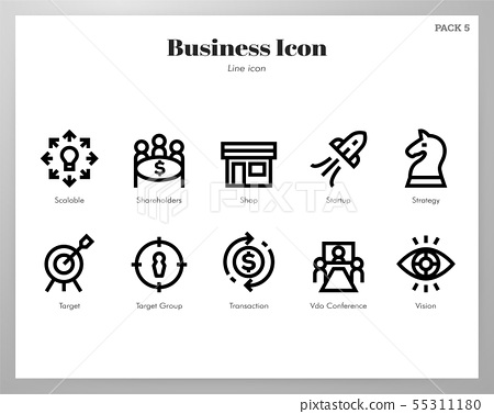 Business icons Line pack 55311180