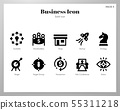 Business icons Solid pack 55311218