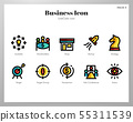 Business icons LineColor pack 55311539