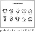 Animal icons Line pack 55312031