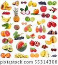 fruit collage on white background 55314306