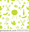 Seamless pattern with grill, barbecue tools BBQ 55317331