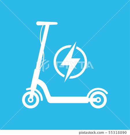 Electric Scooter Icon Vector illustration 55318890