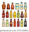 Vector set of isolated Bottles 55319861