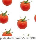cherry tomato seamless pattern 55320990