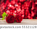 Two red roses. 55321128