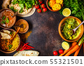 Food traditional Indian cuisine.  55321501