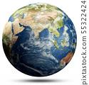 World map sphere 55322424