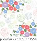 나팔꽃의 꽃 북유럽 풍 55323558