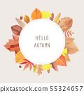 秋葉水彩框架 55324657