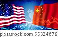 美国/中国经济/政治紧张/冲突图像横幅 55324679