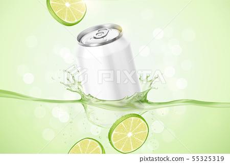 Lime flavor beverage ads 55325319