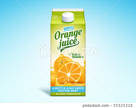 Orange juice paper carton 55325328