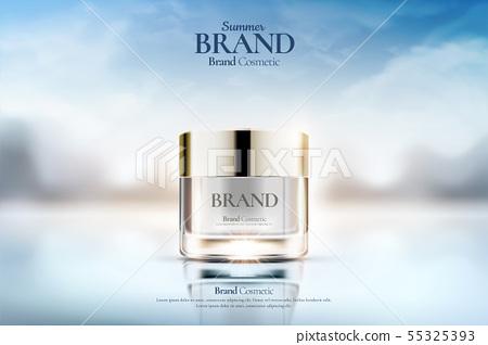 Cream jar cosmetic ads 55325393