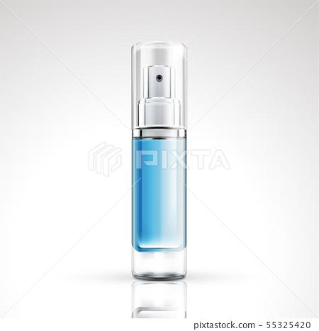 Blue spray bottle package design 55325420