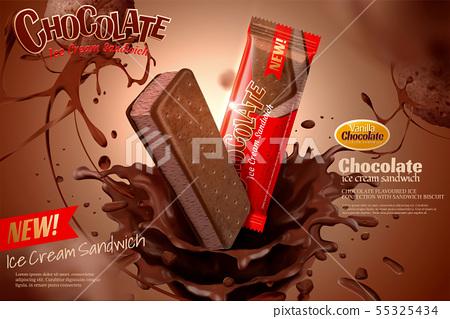 Chocolate ice cream ads 55325434