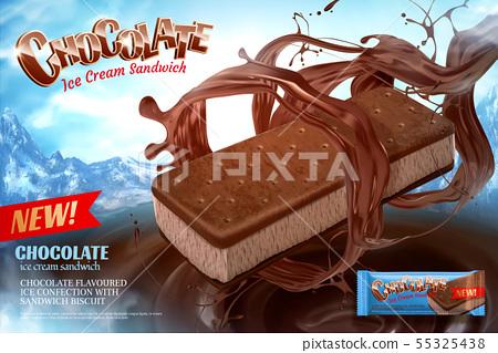 Chocolate ice cream ads 55325438