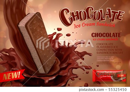 Chocolate ice cream ads 55325450