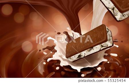 Ice cream sandwich cookie 55325454