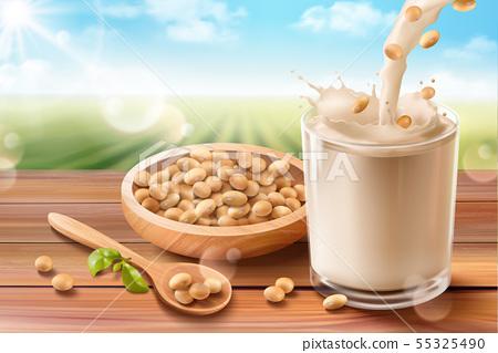 Organic soy milk ads 55325490