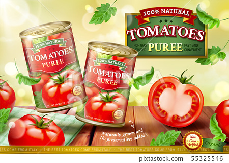 Canned tomato puree ads 55325546