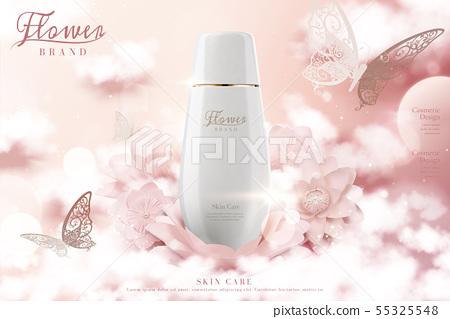 Skincare lotion bottle ads 55325548
