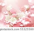 石竹花 粉色 開花 55325560