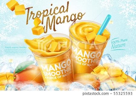 Mango frozen smoothie ads 55325593